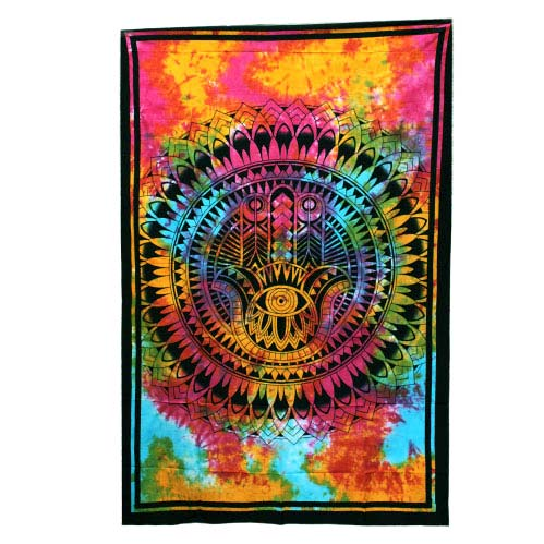 Tie-Dye-Hamsa-Hand-Throw,-Wall-Hanging,-Bed-Spread