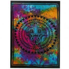 Tie-Dye-Hamsa-Hand-Wall-Hanging,-Wall-Art