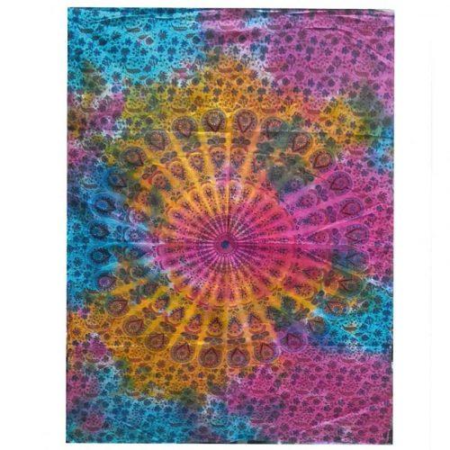 Tie-Dye-Mandala-Wall-Hanging,-Wall-Art