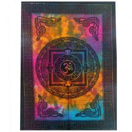 Tie-Dye-Om-Wall-Hanging,-Wall-Art