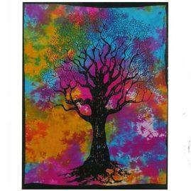 Tie-Dye-Tree-of-Life-Wall-Hanging,-Wall-Art