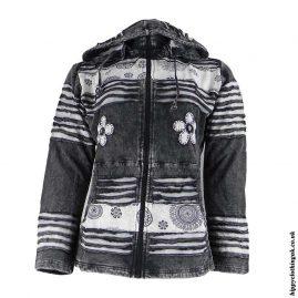 Black-Stonewashed-Hooded-Jacket
