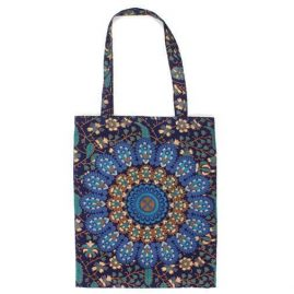 Blue-Handmade-Cotton-Shopping-Tote-Bag