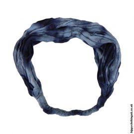Blue-Tie-Dye-Elasticated-Hippy-Hairband,-Headband