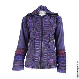 Purple-Ripped-Look-EmbroiPurple-Ripped-Look-Embroidery-Hooded-Jacketdery-Hooded-Jacket