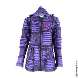 Purple-Ripped-Look-Embroidery-Jacket