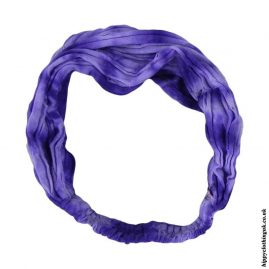 Purple-Tie-Dye-Elasticated-Hippy-Hairband,-Headband