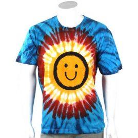 Smiley-Printed-pattern-Tie-Dye-TShirt
