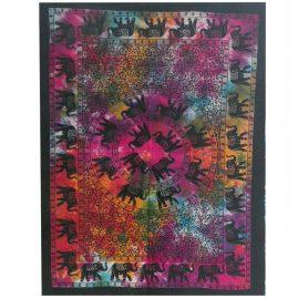 Tie Dye Elephant Mandala Wall Hanging, Wall Art