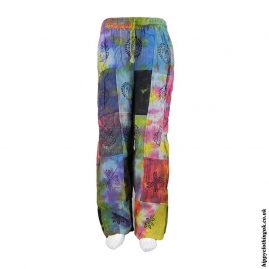 Multicoloured-Tie-Dye-Patchwork-Trousers