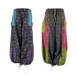 Multicoloured Patchwork Om Trousers