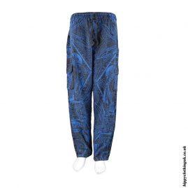 Blue-Geometric-Pattern-Cargo-Trousers