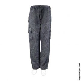 Charcoal-Geometric-Pattern-Cargo-Trousers
