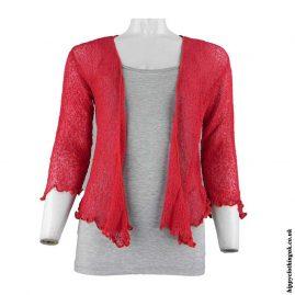 Cherry-Red-Bali-Knit-Hippy-Shrug