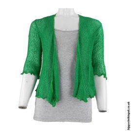 Green-Bali-Knit-Hippy-Shrug