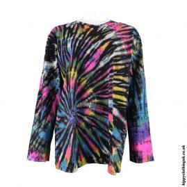 Long-Sleeve-Multicoloured-Tie-Dye-Hippy-T-Shirt-Top
