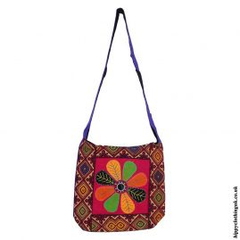Multicoloured-Flower-Shoulder-Bag