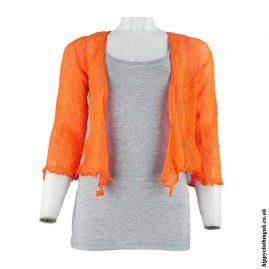 Orange-Bali-Knit-Hippy-Shrug
