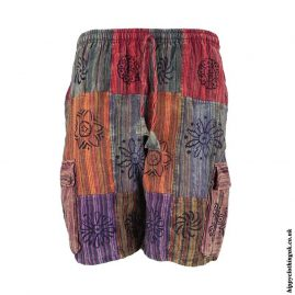 Patchwork-Shorts-With-Printed-Hippy-Patterns