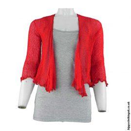 Red-Bali-Knit-Hippy-Shrug