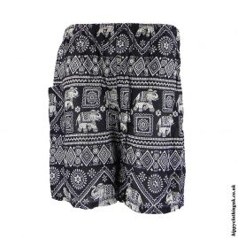 Thai-Male-Hippy-Rayon-Long-Shorts-Black