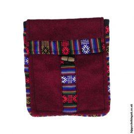 Burgundy-Nepalese-Wool-Passport-Bag