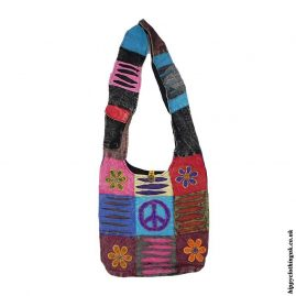 Cotton-Nepalese-Hippy-Peace-Sign-Shoulder-Bag