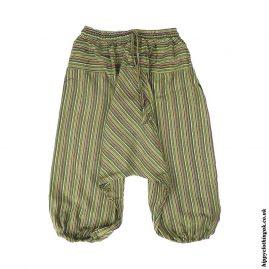 Green-Kids-Striped-Ali-Baba-Harem-Trousers
