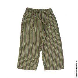Green-Kids-Striped-Cargo-Trousers
