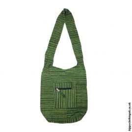 Green-Soft-Feel-Cotton-Shoulder-Bag