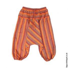 Orange-Kids-Striped-Ali-Baba-Harem-Trousers