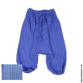 Purple-Kids-Striped-Ali-Baba-Harem-Trousers