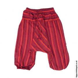 Red-Kids-Striped-Ali-Baba-Harem-Trousers