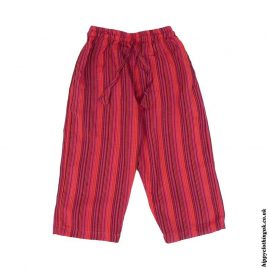 Red-Kids-Striped-Cargo-Trousers