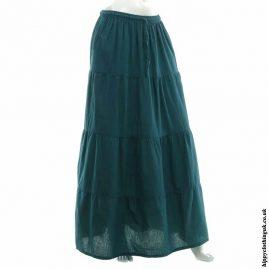Teal-Hippy-Folk-Skirt