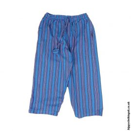Turquoise-Kids-Striped-Cargo-Trousers