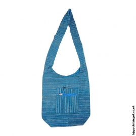 Turquoise-Soft-Feel-Cotton-Shoulder-Bag