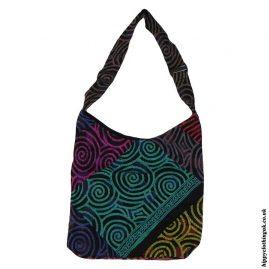 Multicoloured Patchwork Swirl Shoulder Bag
