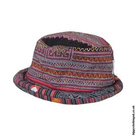 Black-Thai-Multicoloured-Hippy-Rimmed-Hat