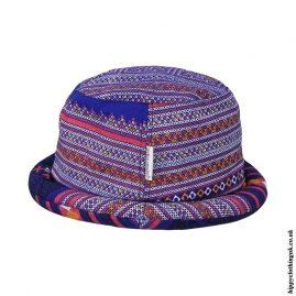Blue-Thai-Multicoloured-Hippy-Rimmed-Hat
