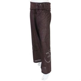 Brown-Om-Yoga-Trousers