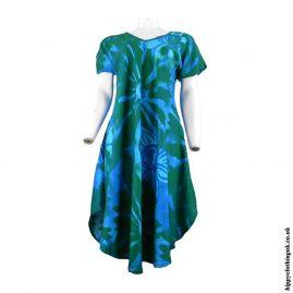 Green-Batik-Flower-Hanky-Hem-Dress