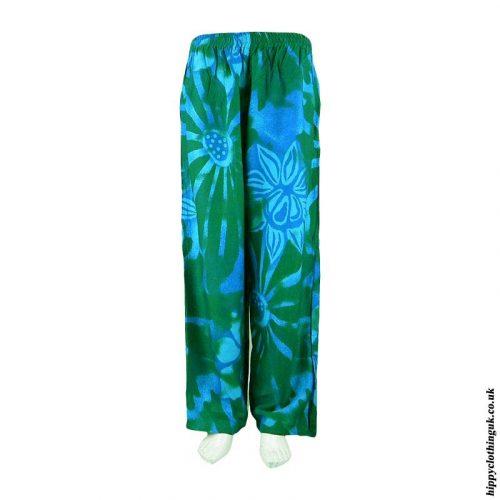 Green-Batik-Flower-Trousers