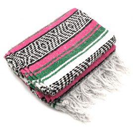 Green-Pink-Mexican-Falsa-Blanket-Rug