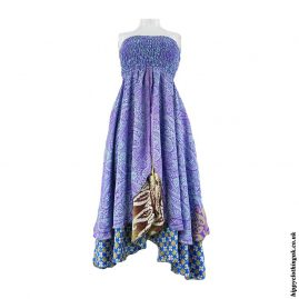 Multicoloured-2-in-1-Recycled-Sari-Dress