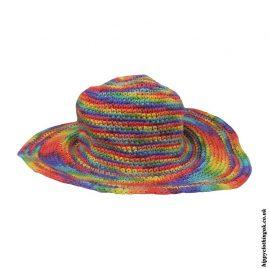 Multicoloured-Rainbow-Crochet-Hippy-Sun-Hats-