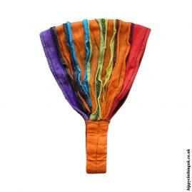 Orange-Ripped-Look-Elasticated-Hippy-Hairbands-Headbands