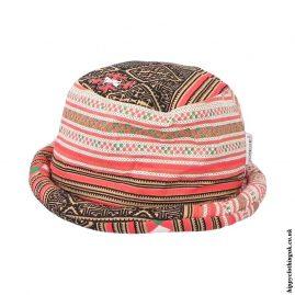 Orange-Thai-Multicoloured-Hippy-Rimmed-Hat