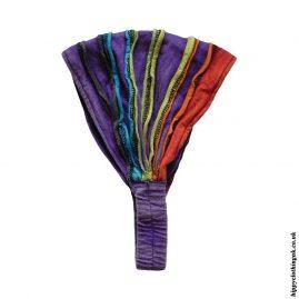 Purple-Ripped-Look-Elasticated-Hippy-Hairbands-Headbands
