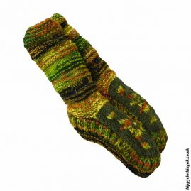 Green-Long-Fleece-Lined-Wool-Socks